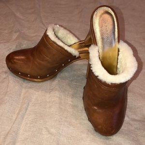 Coach heeled clogs